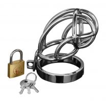 Master Series Captus Stainless Steel Locking Male Chastity Cage