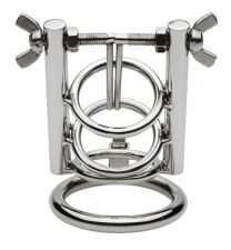 Master Series CBT Stainless Steel Urethral Spreader Chastity Cage