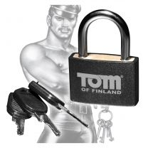 Tom Of Finland Brass Black Lock For Hand Ankle Cuffs Lockable Locking Small